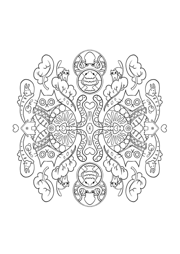 download coloring pages liloo illustration