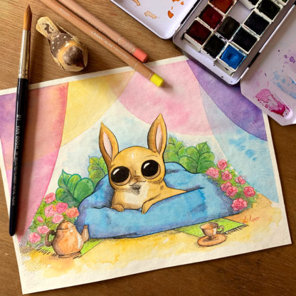order a custom artwork chihuahua liloo illustration commissions