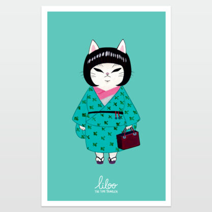 gatita de negocios poster liloo illustration