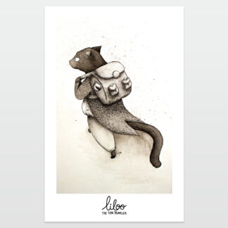 El gato viajero poster - liloo illustration