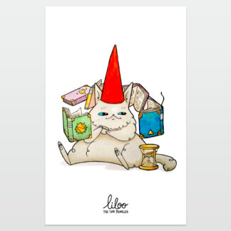 gato mago poster liloo illustration