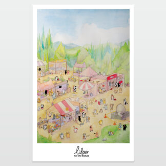 poster mercado, liloo illustration